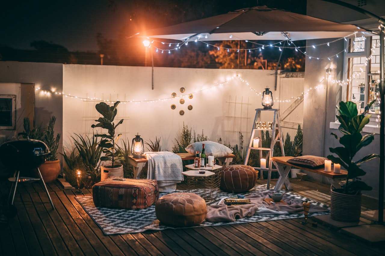 Stilvolle Terrasse